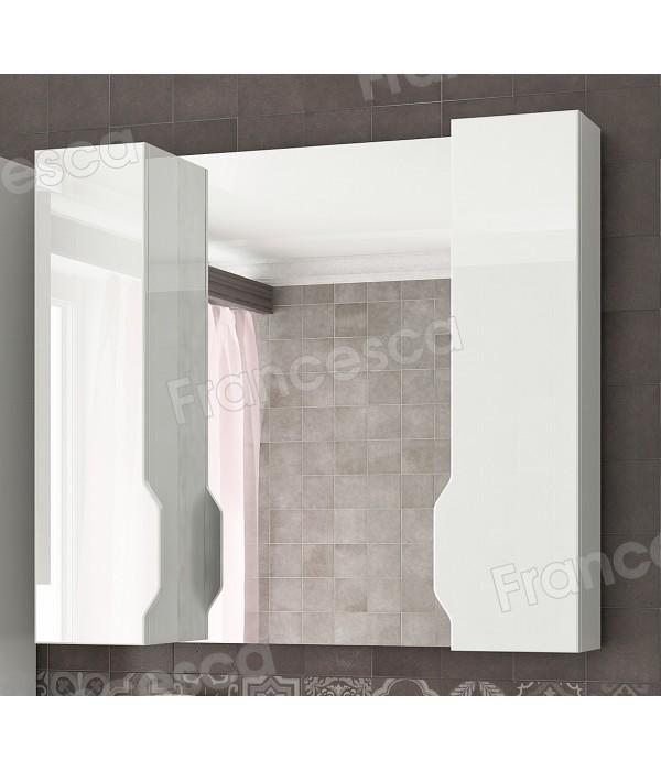 Полка зеркальная со шкафом Francesca Royal 85