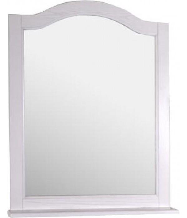 Зеркало ASB-Woodline Модерн 85 белое, патина серебро