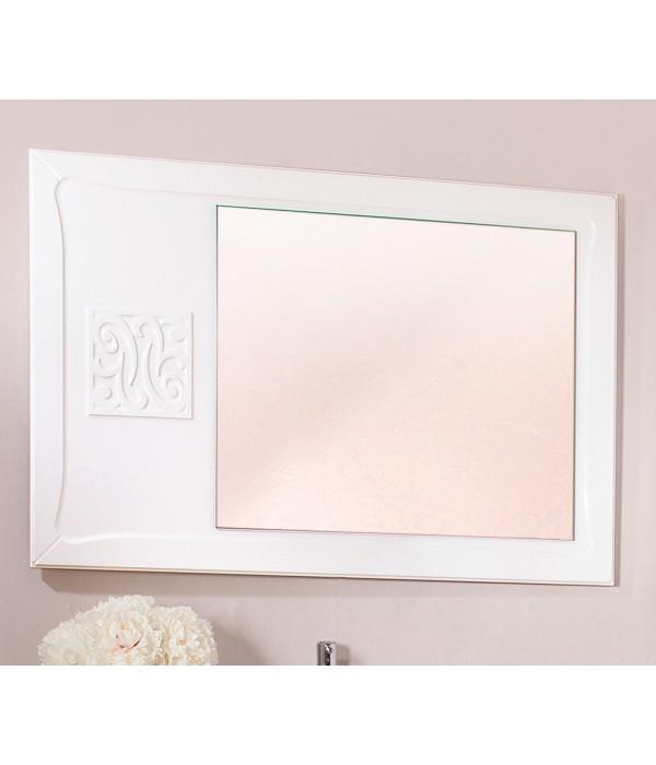Зеркало Бриклаер Адель 105 белый глянец