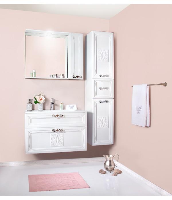 Комплект мебели Бриклаер Адель 85 белый глянец