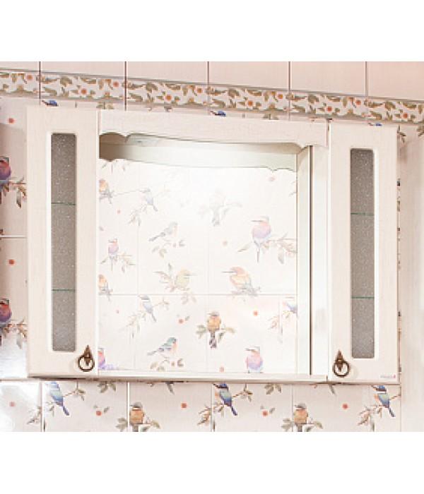 Зеркало-шкаф Бриклаер Кантри 105 Бежевый дуб прованс