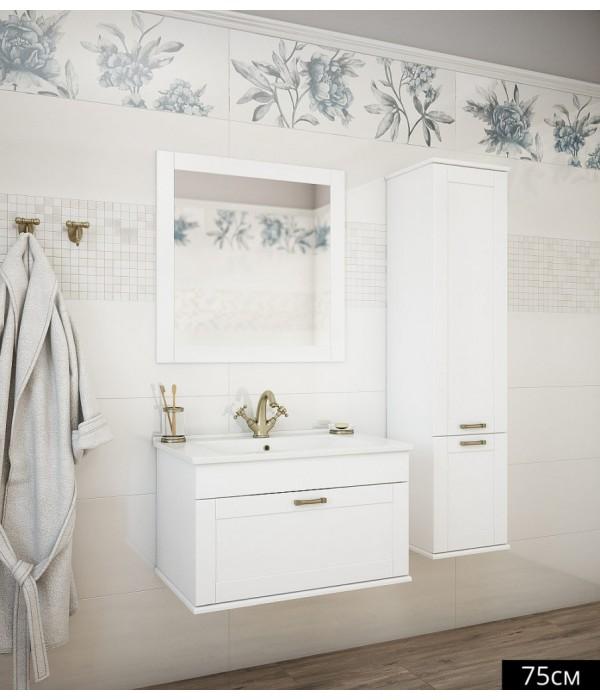 Комплект мебели Sanflor Ванесса 75 подвесная, белая