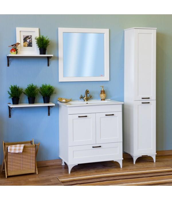 Комплект мебели Sanflor Ванесса 75 напольная, белая