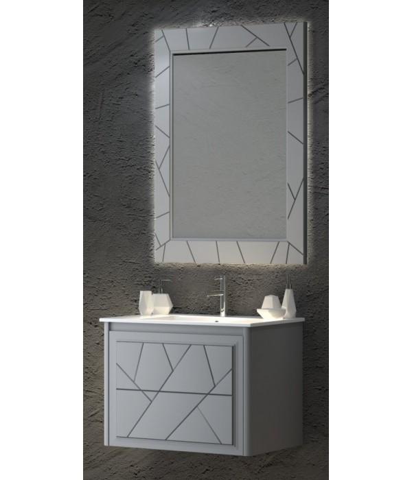 Комплект мебели Smile Луиджи 70 серый матовый