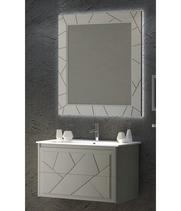 Комплект мебели Smile Луиджи 90 серый матовый