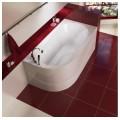 Акриловая ванна Mirsant Небуг 150х80 правая