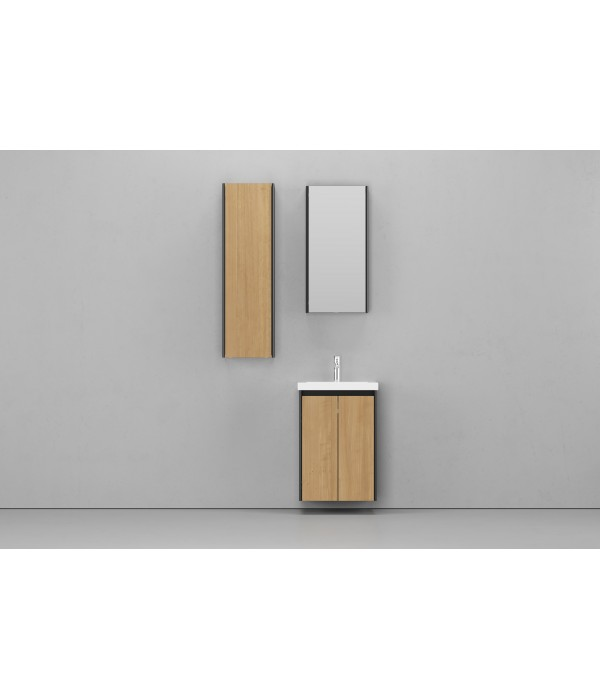 Комплект мебели Velvex Klaufs 50.2D черная, шатанэ, подвесная