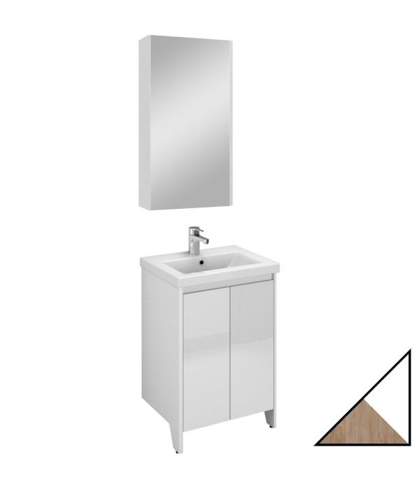 Комплект мебели Velvex Klaufs 50.2D белая, шатанэ, напольная