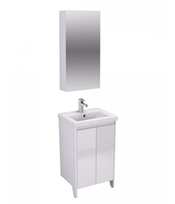 Комплект мебели Velvex Klaufs 50.2D белый глянец, напольная