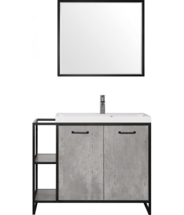 Комплект мебели Style Line Лофт 80/100 бетон