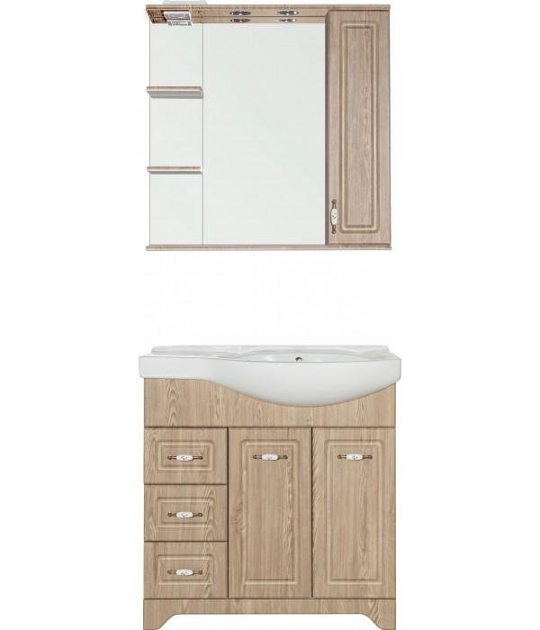 Комплект мебели Style Line Олеандр-2 82 L, напольная, люкс, карпатская ель
