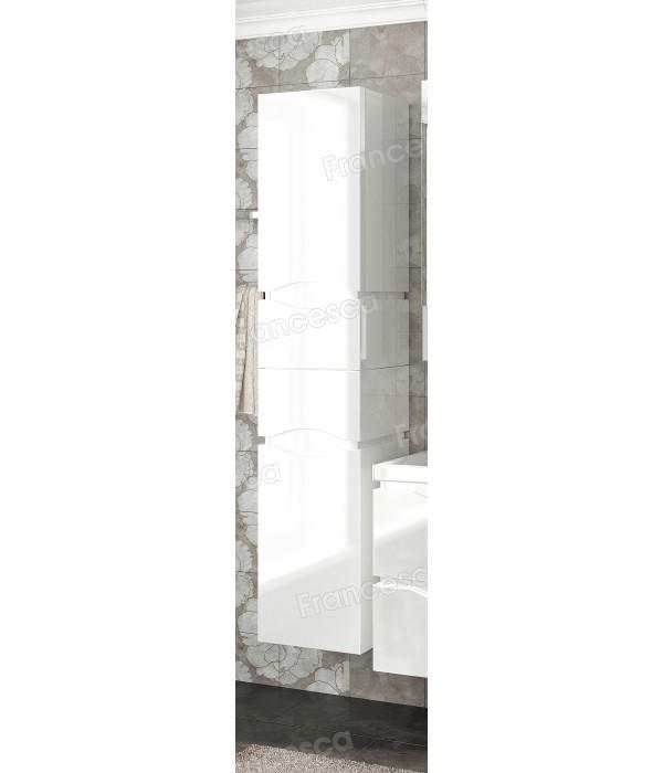 Пенал Francesca Latina 35 с корзиной подвесной белый
