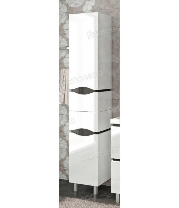 Пенал Francesca Latina 35 с корзиной напольный белый-венге