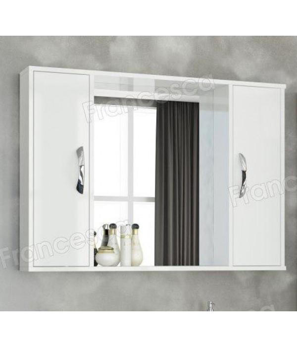 Шкаф-зеркало Francesca Eco Max 100 белый
