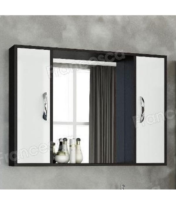 Шкаф-зеркало Francesca Eco Max 100 белый-венге