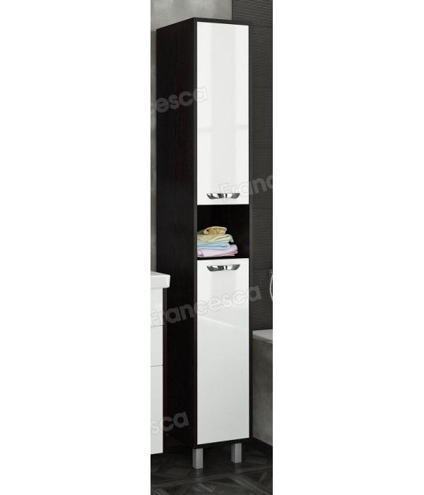 Пенал Francesca Eco Max 30 белый-венге (2дв. универсальный)