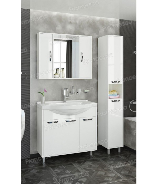 Комплект мебели Francesca Eco Max 90 белый (3 дв. ум. Эльбрус 90)