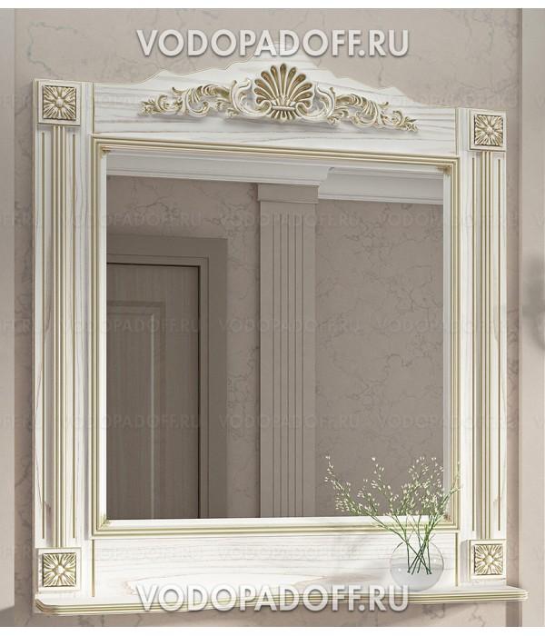 Зеркало Венеция Аврора 85 цвет: белый с патиной золото