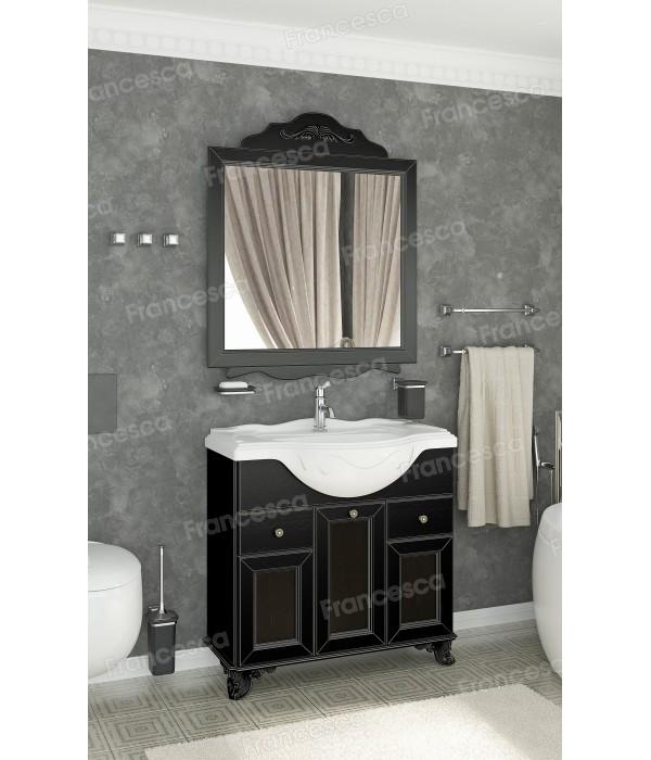 Комплект мебели Francesca Эстель 85 черный, декоративная рама