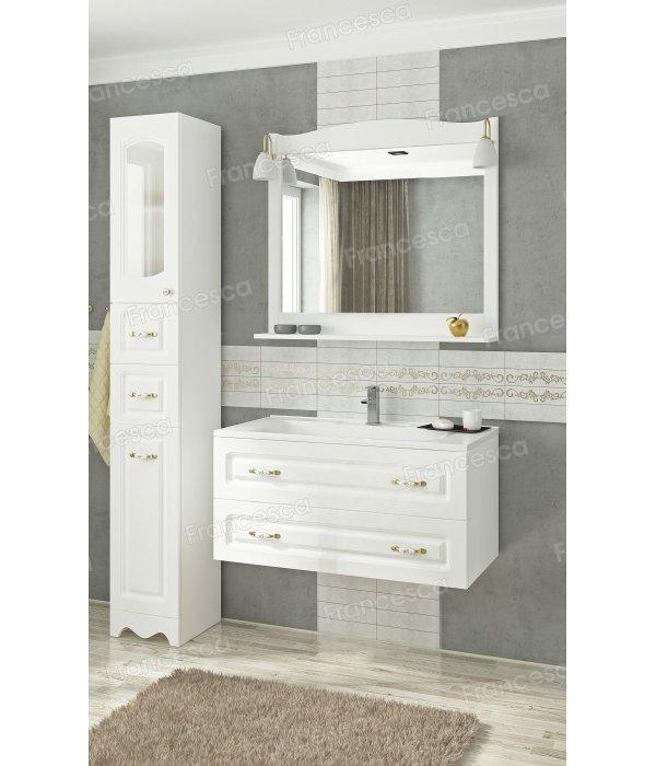 Комплект мебели Francesca Империя П 90 подвесной белый