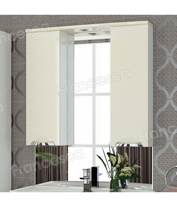 Шкаф-зеркало Francesca Виктория 90 бежевый