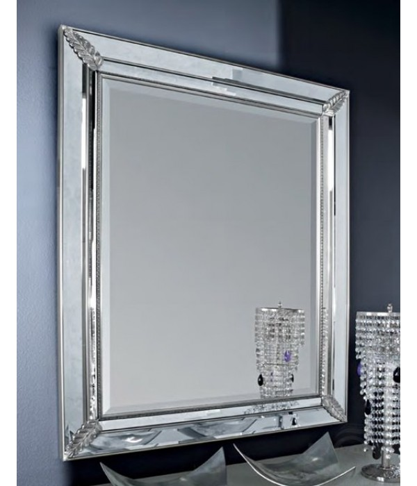 Зеркало в раме в отделке Серебро Bagno Piu Moretta 2.0
