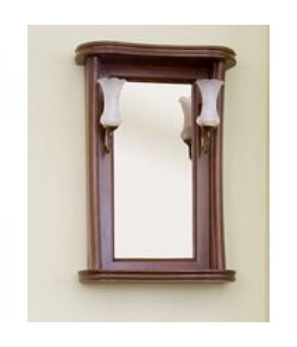 Зеркало Аллигатор Классик 55 в раме, коричневый