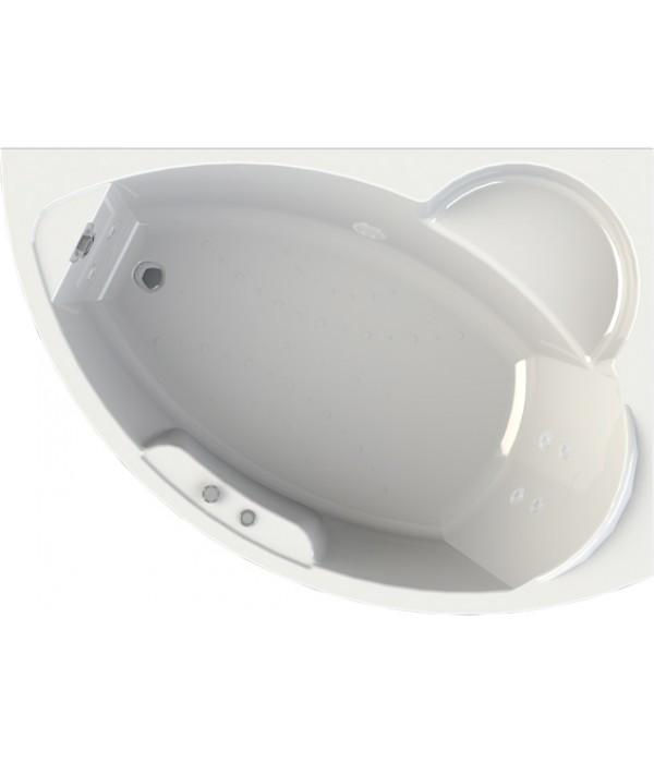 Акриловая ванна Radomir Wachter Алари R с гидромассажем и экраном, форсунки белые