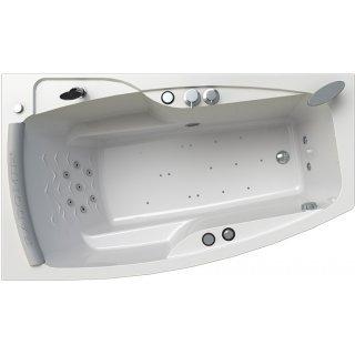 Акриловая ванна Radomir Аризона Релакс Chrome 170x100 левая с фронтальной панелью