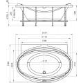 Акриловая ванна Radomir Лагуна Релакс Chrome 185x124