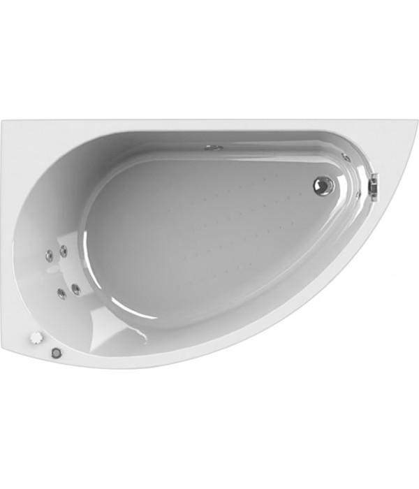 Акриловая ванна Radomir Wachter Бергамо L с гидромассажем и экраном, форсунки хром
