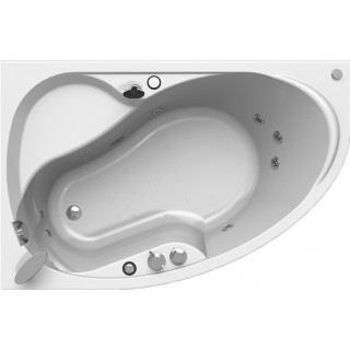 Акриловая ванна Radomir Амелия Релакс Chrome 160x105 левая