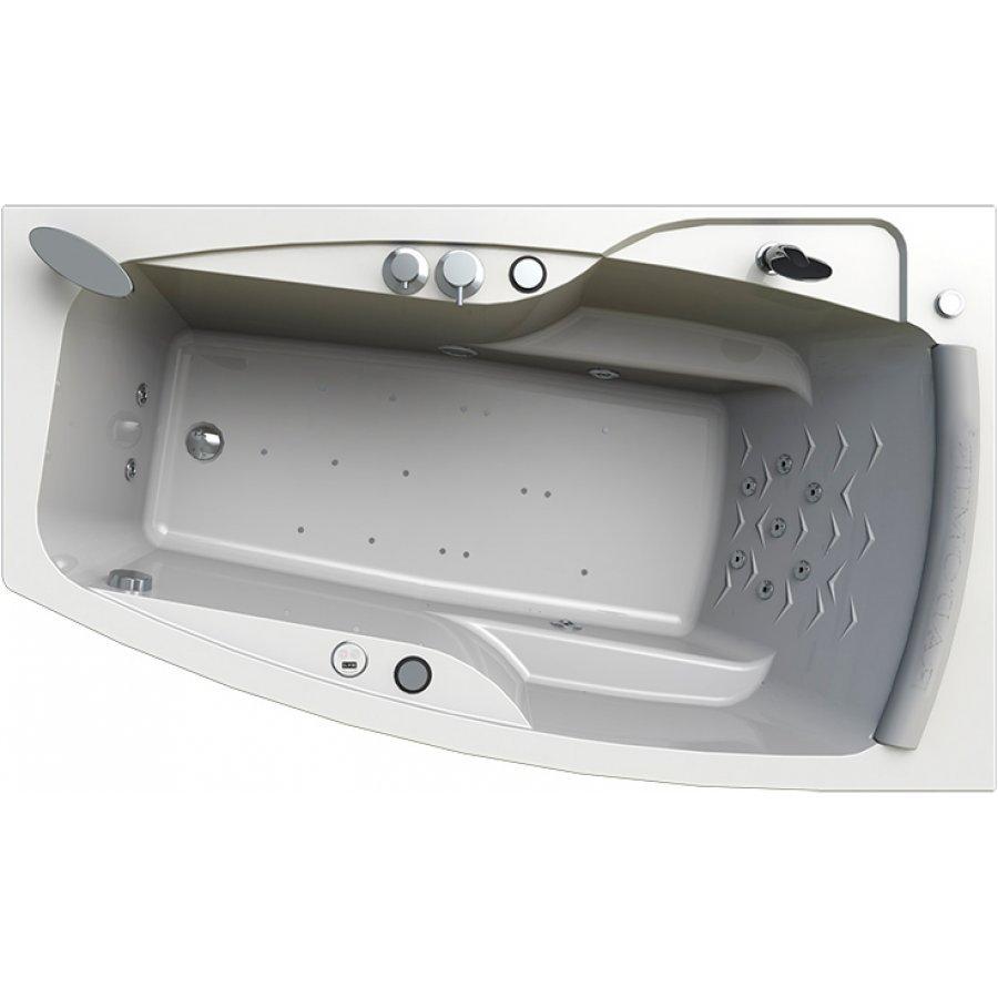Акриловая ванна Radomir Аризона Лечебный Chrome 170x100 правая с фронтальной панелью