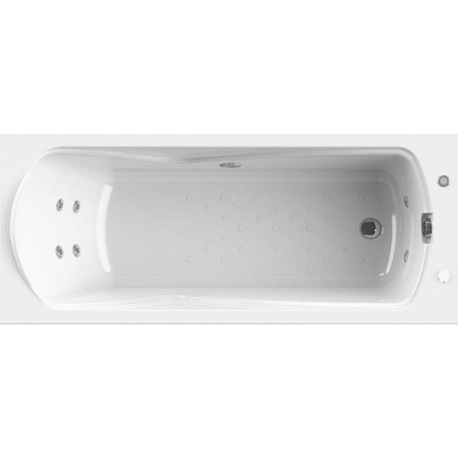 Акриловая ванна Radomir Wachter Сильвия с гидромассажем и экраном, форсунки белые