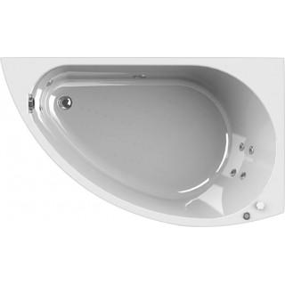Акриловая ванна Radomir Wachter Бергамо R с гидромассажем и экраном, форсунки хром