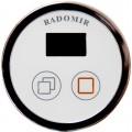 Акриловая ванна Radomir Альбена Релакс Chrome 168x120 правая