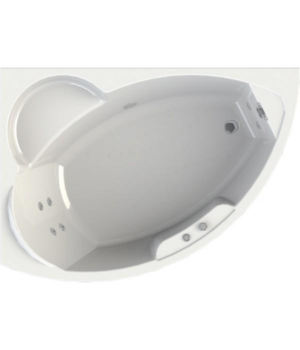 Акриловая ванна Radomir Wachter Алари L с гидромассажем и экраном, форсунки хром