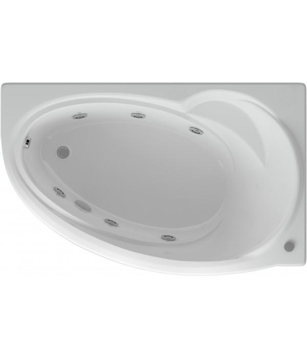 Акриловая ванна Акватек Бетта 170 R с гидромассажем и экраном