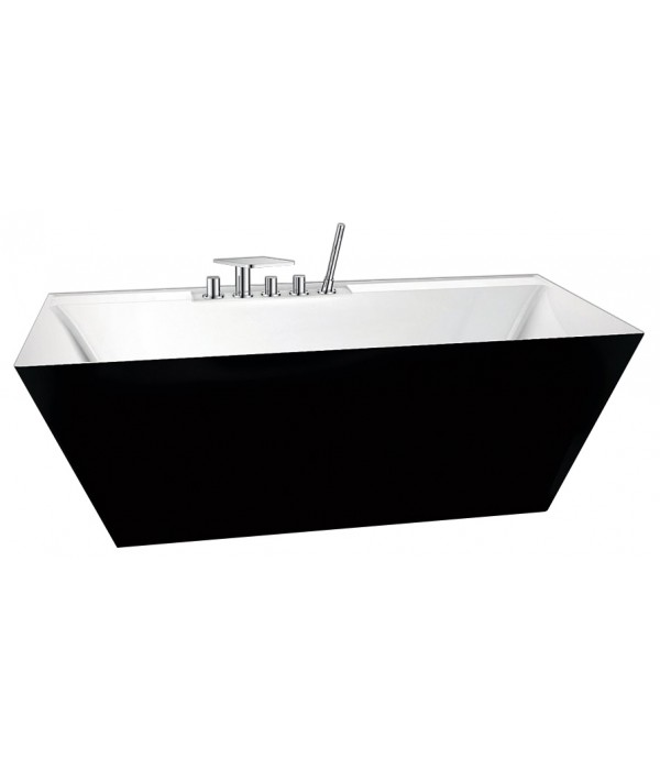 Акриловая ванна BelBagno BB19-NERO/BIA