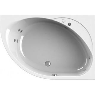 Акриловая ванна Radomir Wachter Мелани R с гидромассажем и экраном, форсунки хром