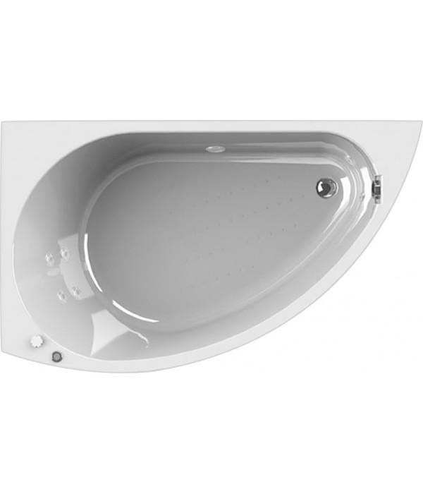 Акриловая ванна Radomir Wachter Бергамо L с гидромассажем и экраном, форсунки белые