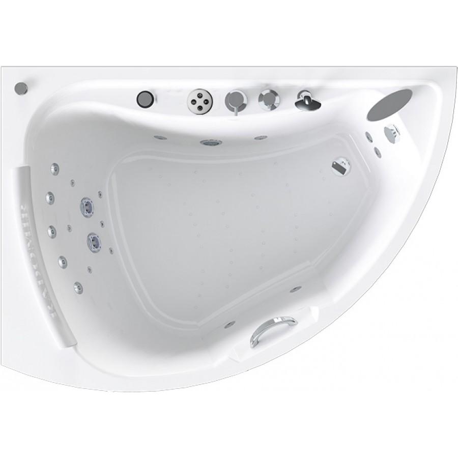 Акриловая ванна Radomir Альбена Специальный Chrome 168x120 левая