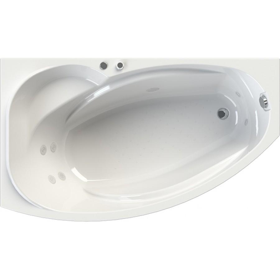 Акриловая ванна Radomir Wachter София L с гидромассажем и экраном, форсунки белые