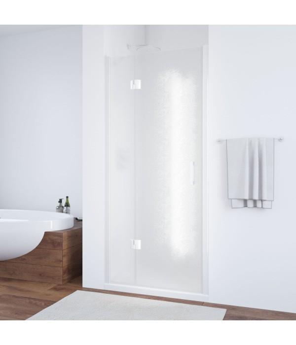 Душевая дверь в нишу Vegas Glass AFP 100 01 02 L профиль белый, стекло шиншилла