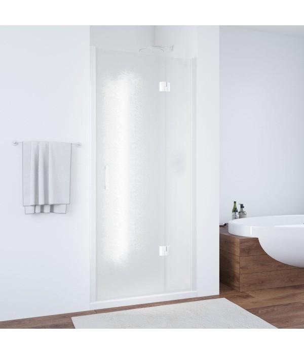 Душевая дверь в нишу Vegas Glass AFP 100 01 02 R профиль белый, стекло шиншилла