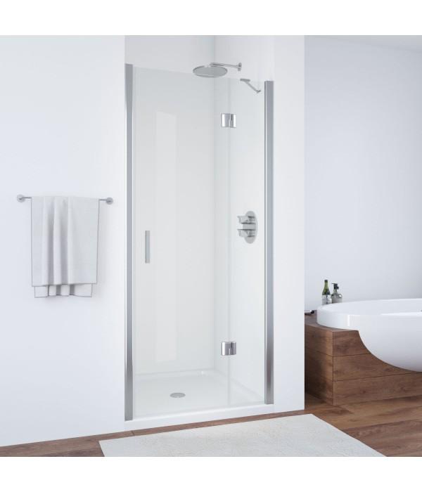 Душевая дверь в нишу Vegas Glass AFP 100 08 01 R профиль глянцевый хром, стекло прозрачное