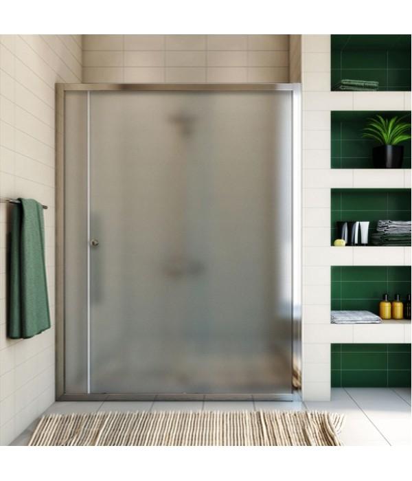 Душевая дверь в нишу GuteWetter Guwer GK-662D 145 см стекло матовое, профиль хром