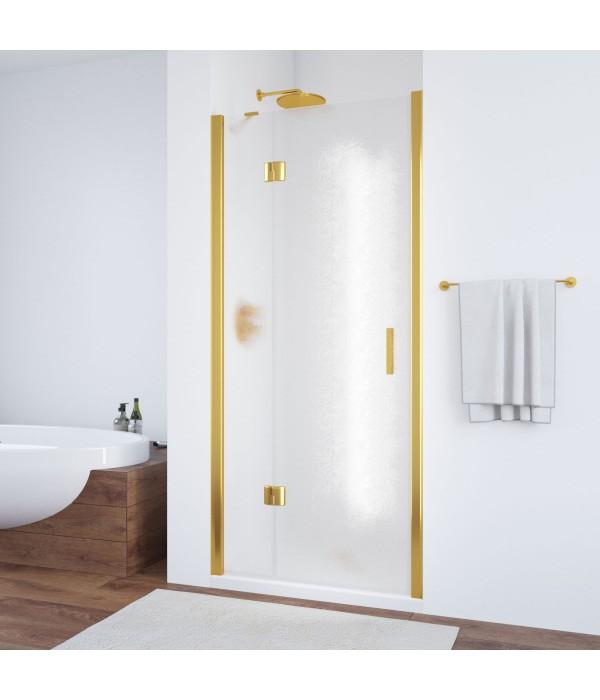 Душевая дверь в нишу Vegas Glass AFP 100 09 02 L профиль золото, стекло шиншилла