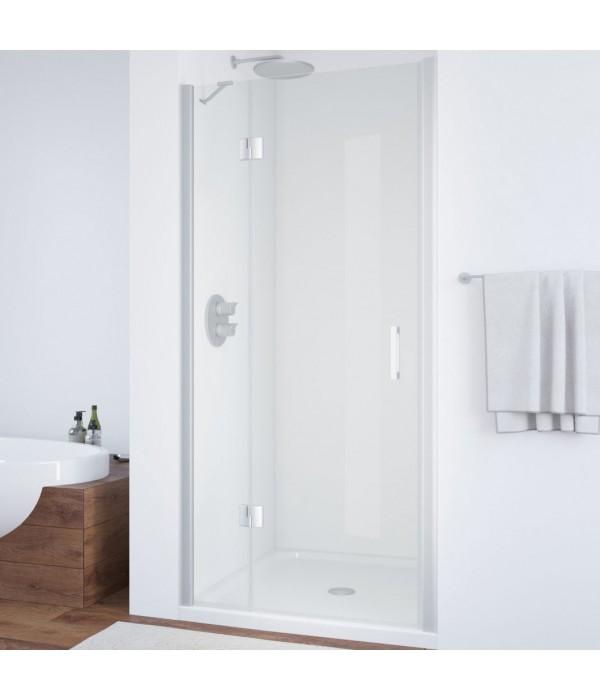 Душевая дверь в нишу Vegas Glass AFP 100 07 01 L профиль матовый хром, стекло прозрачное