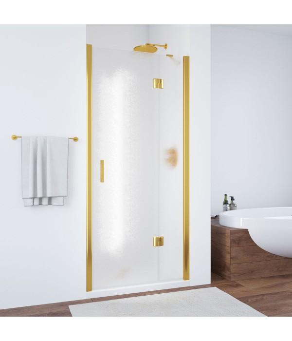 Душевая дверь в нишу Vegas Glass AFP 100 09 02 R профиль золото, стекло шиншилла